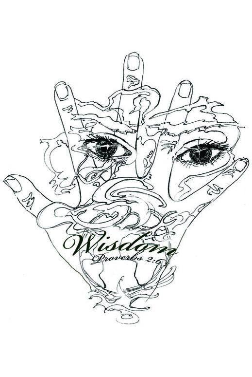 Wisdom hand and eyes; Spiritual Surf Wear